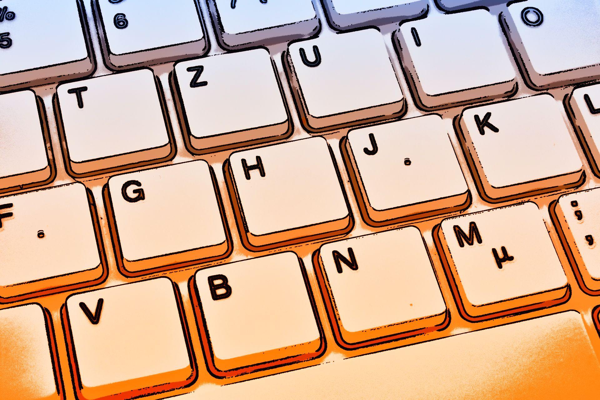Kategorie (Tastatur blau-orange)